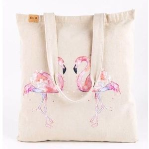🆕Flamingo Canvas Tote Bag